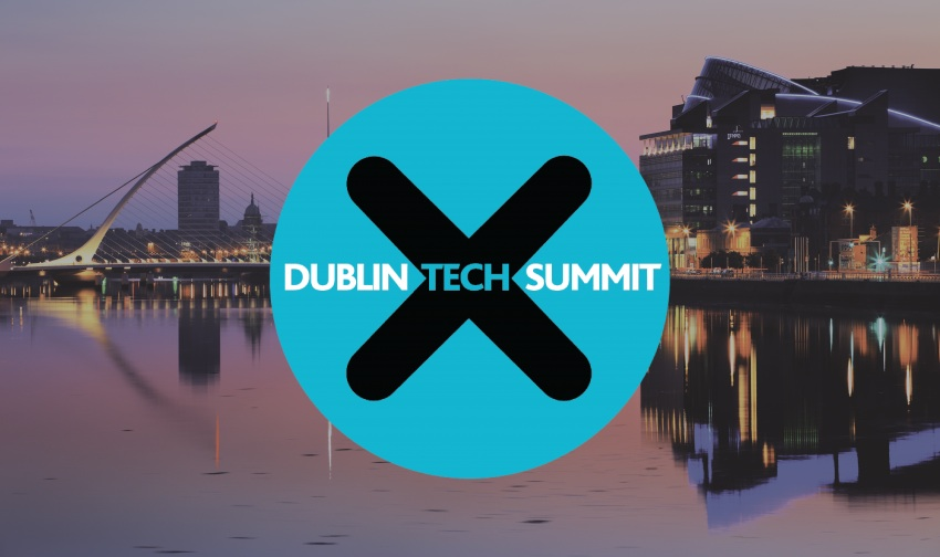 Dublin Tech Summit Logo and Dublin backround