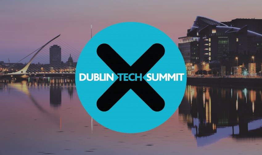 Dublin Tech Summit Logo and Dublin backround
