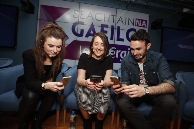 Niamh Ní Chróinín, Raidió Rí-Rá; Edel Ní Bhraonáin, Na Gaeil Óga; Cormac Breathnach, Foclóir.ie