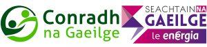logo Conradh an Gaeilge agus Seachtain na Gaeilge le Energia